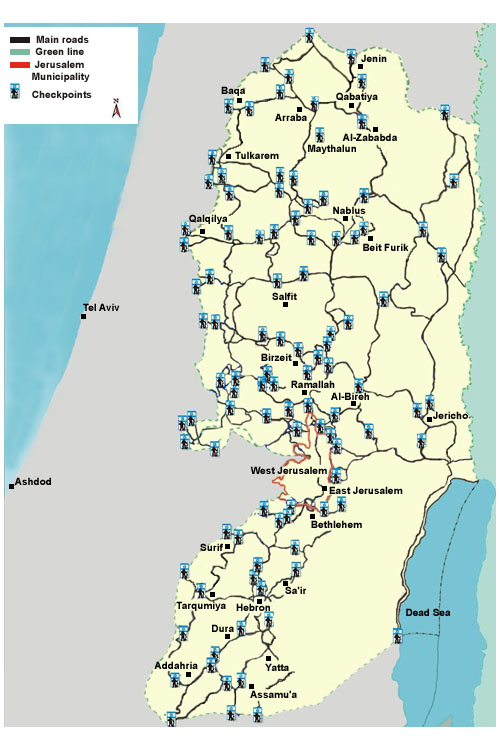 Israeli Checkpoints in the West Bank