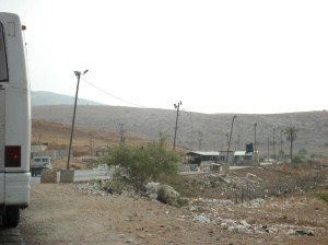 illegal Israeli checkpoint north of Nablus on way to 1948
