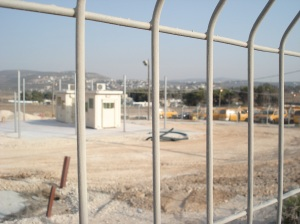 New Huwwara Checkpoint under construction, Nablus (fall 2008)