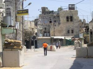 Hebron Checkpoint, inside the Old City (fall 2005)