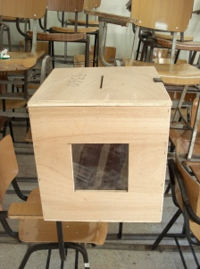 An Najah University ballot box
