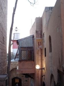 yaffa lighthouse and homes