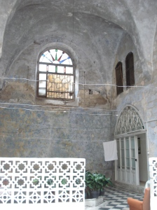 courtyard of palestinian home in the old city of nablus