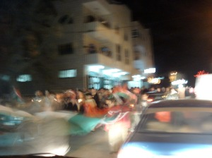 birzeit vigil and march for gaza