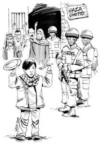 """carlos latuff's """"gaza ghetto"""""""