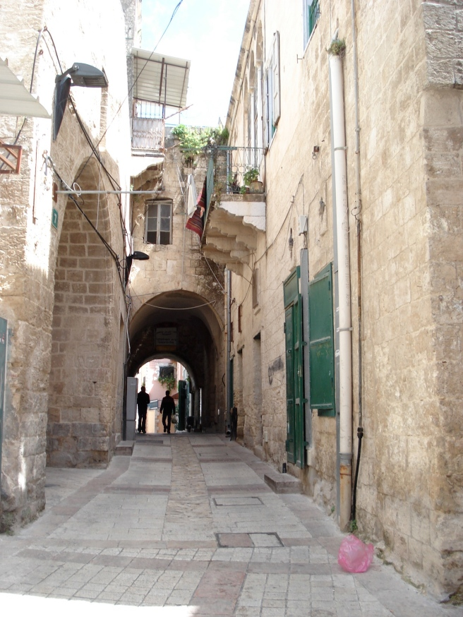 inside the old city of nasra, palestine