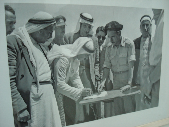 um el fahm signing truce papers with israeli terrorists in 1949