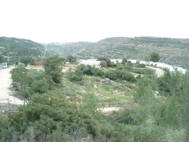 "israeli terrorist ""outpost"" settlement on the way to bir zeit"