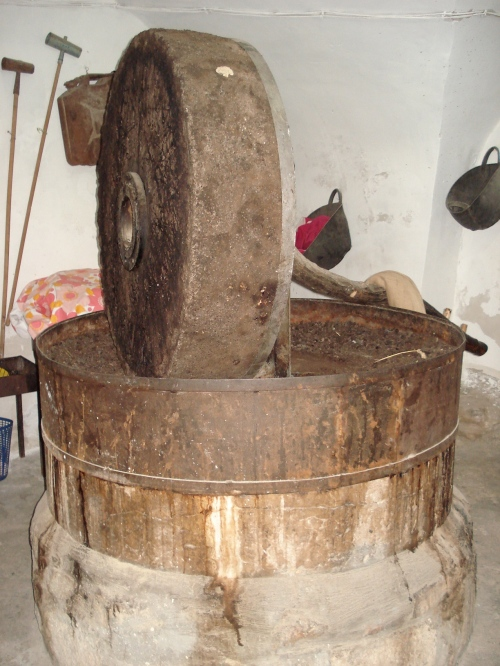 palestinian olive oil press in deir hana, palestine