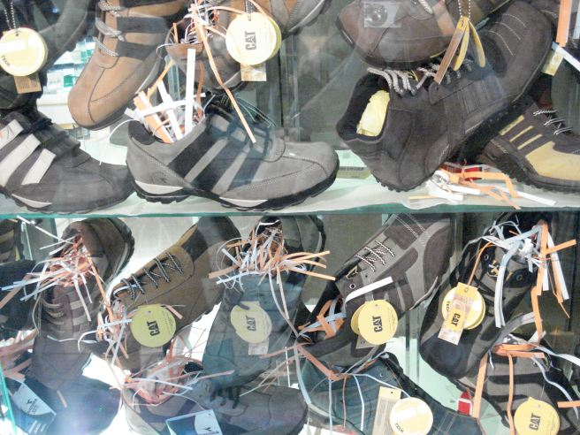 caterpillar shoes for sale in the old city of nablus