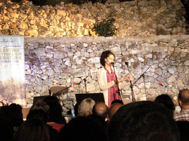 the extraordinary poet suheir hammad reading in ramallah
