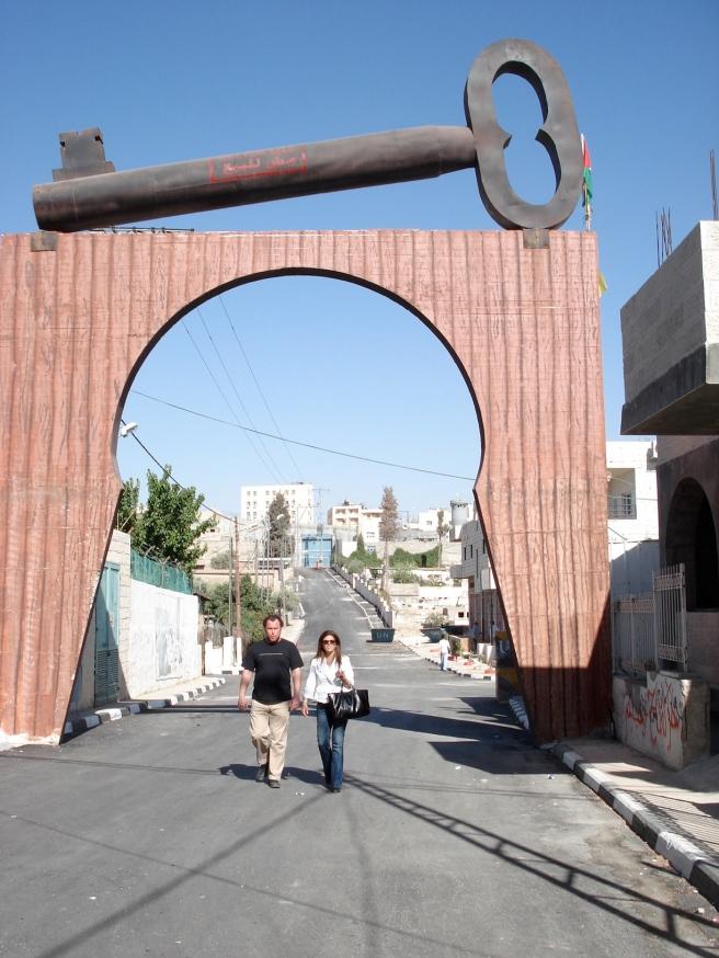 nathalie handal in aida refugee camp