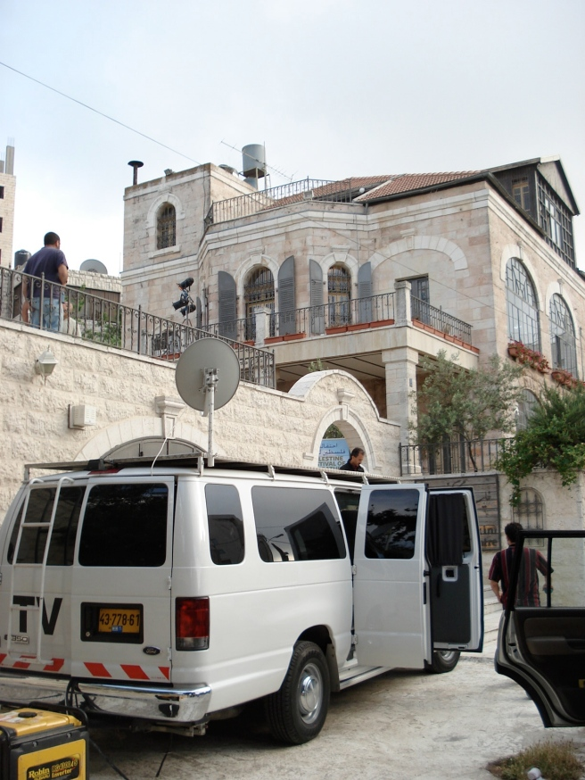 al jazeera not israeli terrorists outside day 2's venue for palestine festival of literature