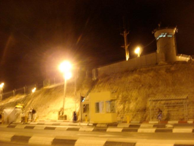 container checkpoint, abu dis palestine 11 pm