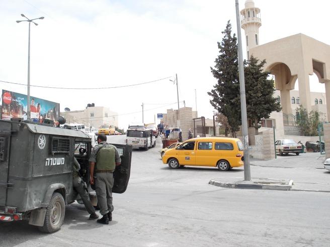 israeli terrorists outside al quds university yesterday