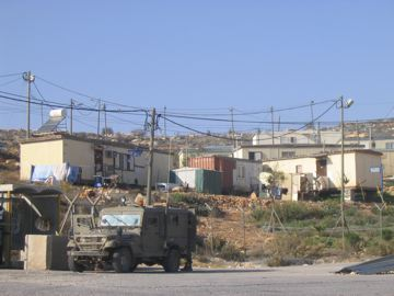 "so-called colony ""outpost"" near ramallah"