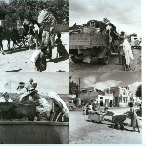 palestinians fleeing gaza 1948
