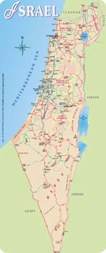 zionist entity's official tourist map