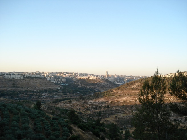 a view of the palestinian village of malha