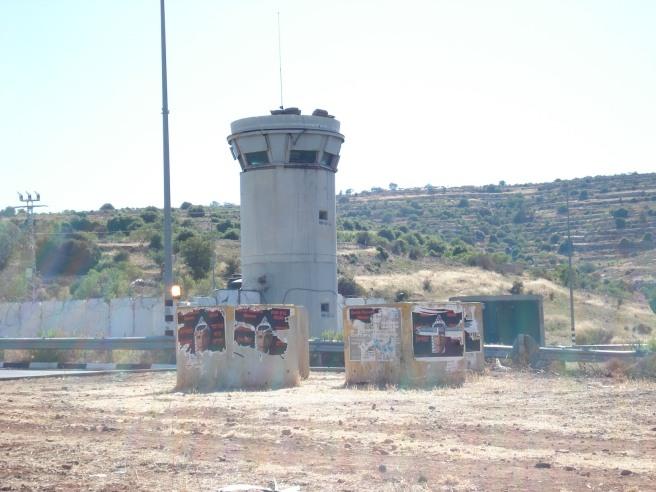 zionist terrorist colony of efrat's checkpoint in khader, palestine