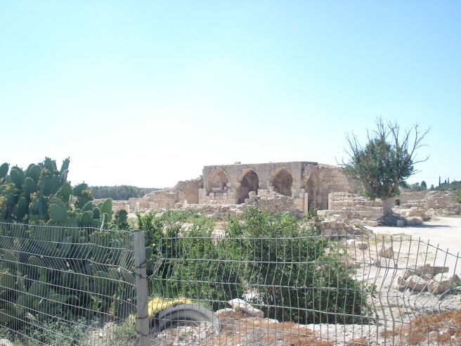 ruins of the palestinian village of beit jibrin