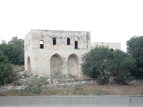 old palestinian home in occupied beit mahsir, palestine