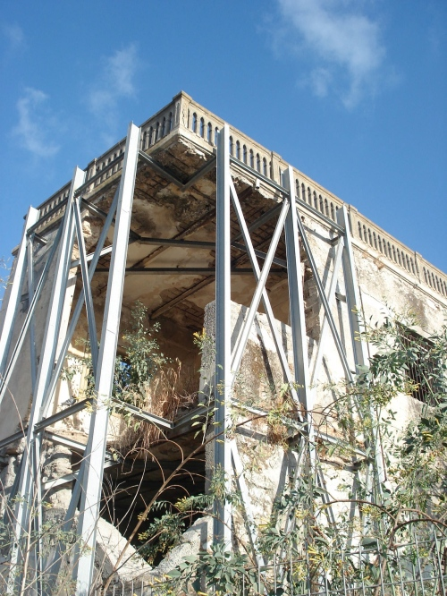 destroyed palestinian home, al majdal