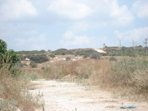 zionist terrorist military base on the land of al burayj, palestine