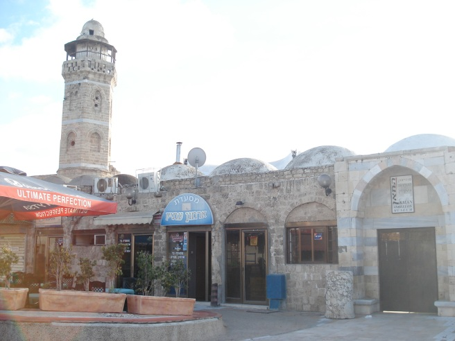 palestinian mosque in al majdal used as restaurant/bar and museum