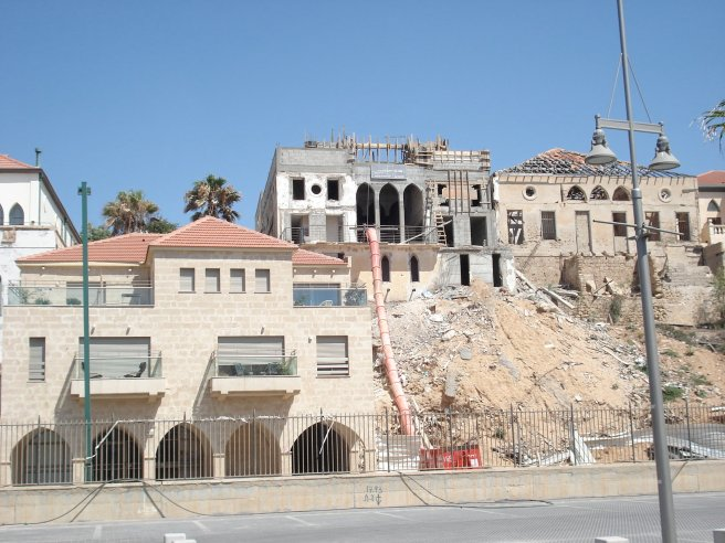 destruction of palestinian homes in occupied yaffa, palestine