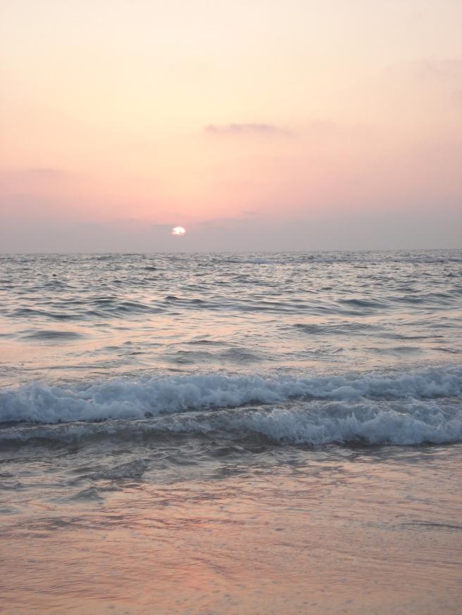 sunset over yaffa, palestine