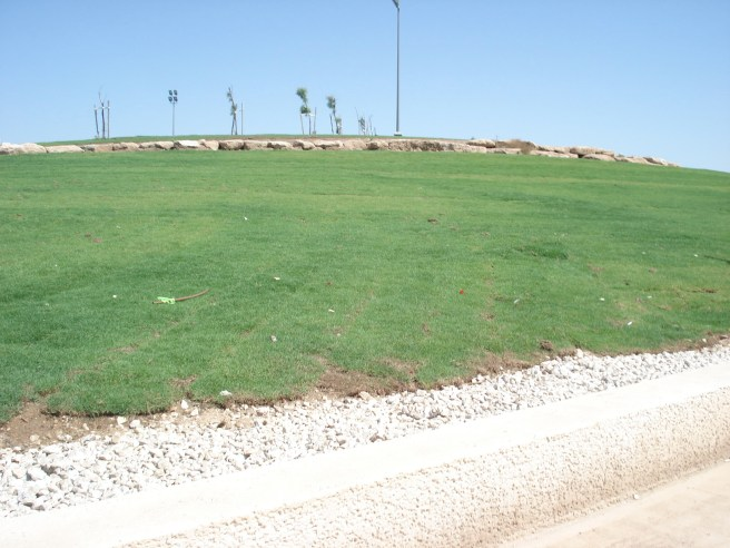 destroying palestinian land for a beach park in occupied yaffa, palestine