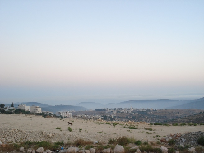 sunrise over hanoun, palestine
