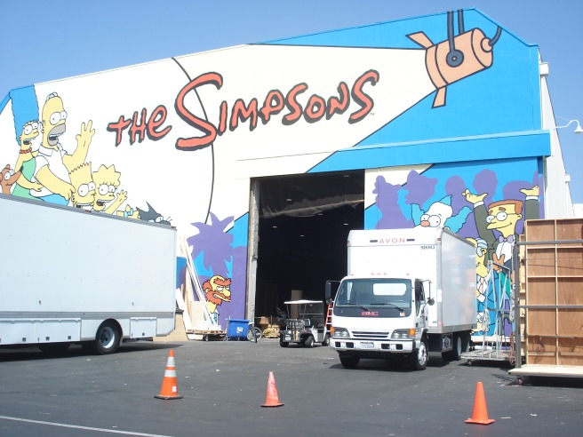 """sound stage for """"the simpsons"""""""